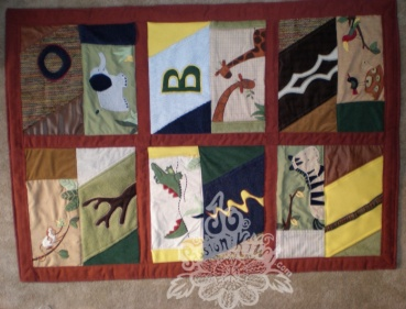 Second nephew's quilt-using Zanzibar valence